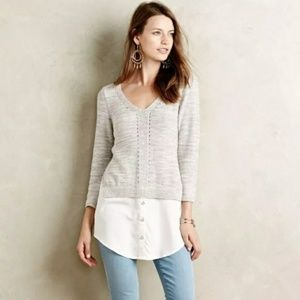Anthropologie Moth layered tunic/ sweater